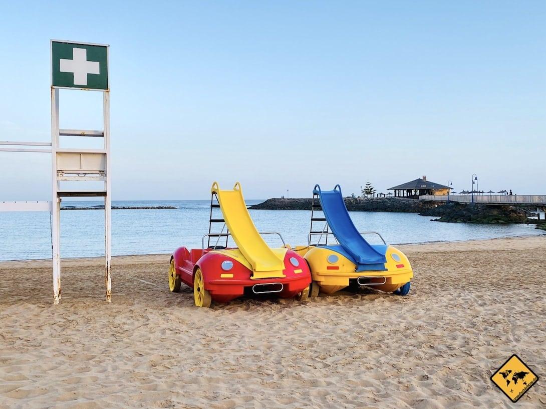 Wassersport Tretboote Caleta de Fuste Strand