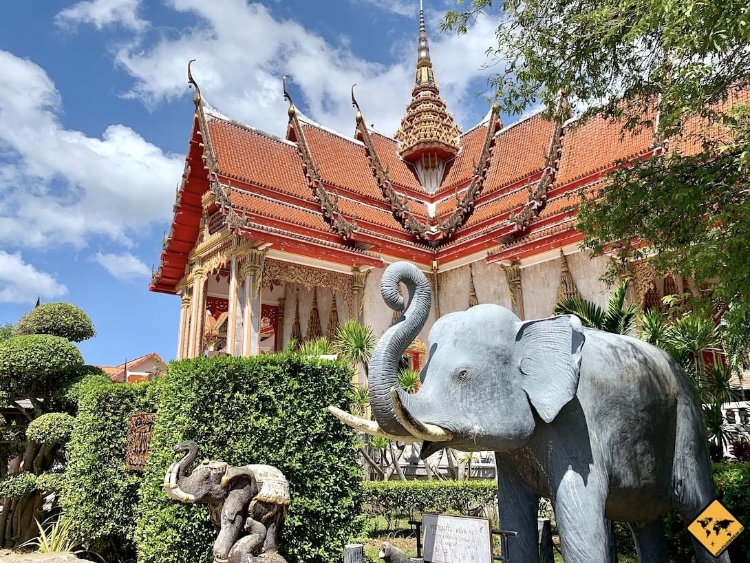Wat Chalong Phuket Tempel Elefant