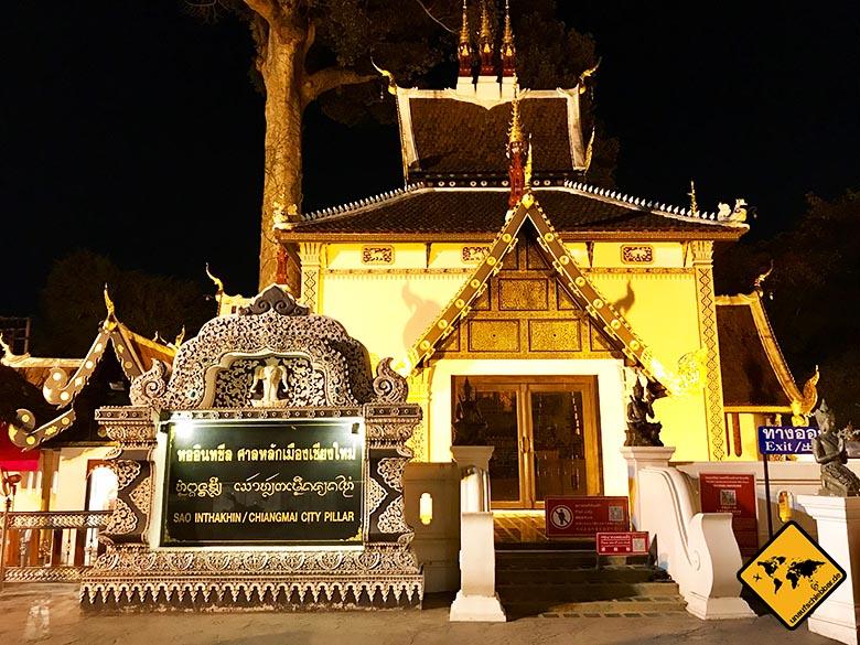 Wat Chedi Luang Chiang Mai Stadtsäule