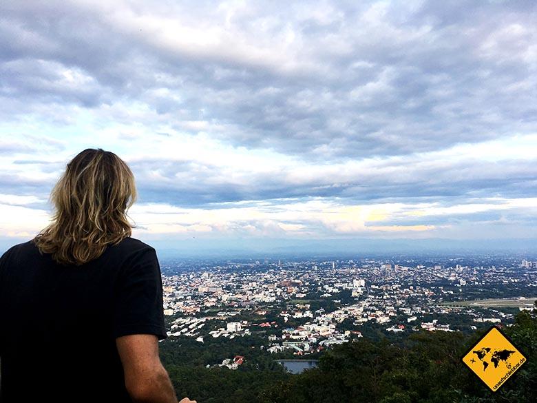 Wat Doi Suthep Aussicht unterwegs