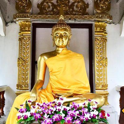 Wat Pa Dara Phirom Buddha Figur