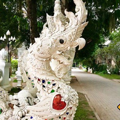 Wat Pa Dara Phirom Drachenfigur