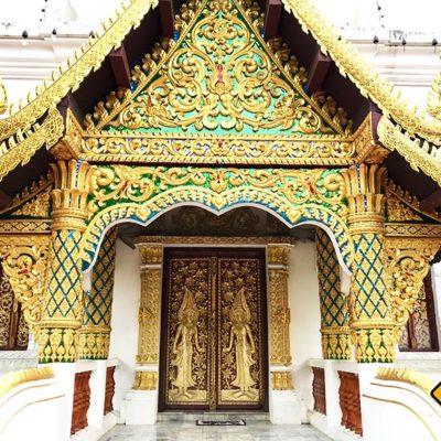 Wat Pa Dara Phirom Tempeleingang