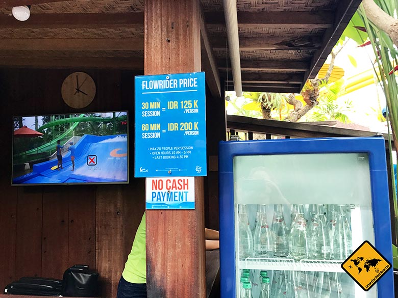 Waterbom Park Bali Flowrider Preise