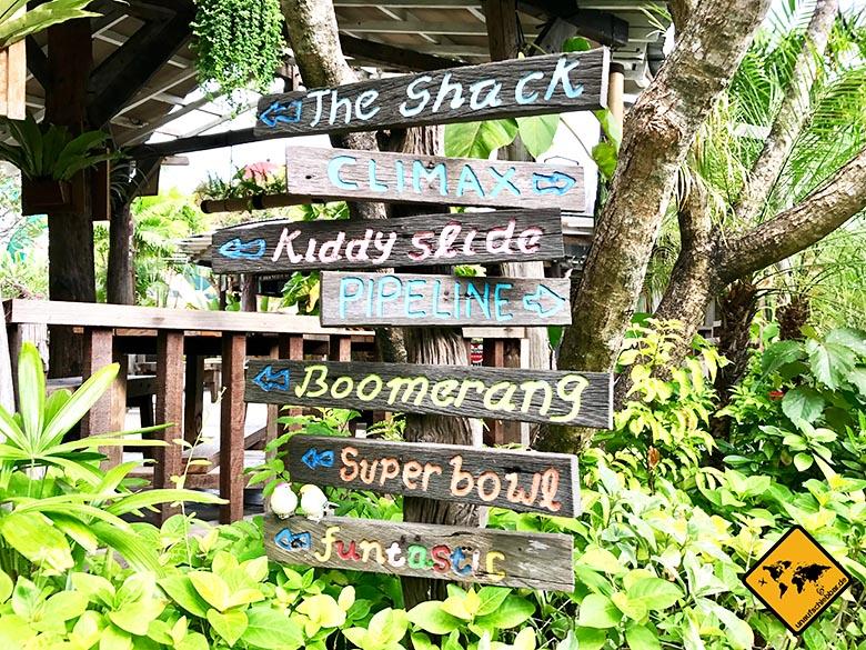 Waterbom Wasserpark Bali Wegweiser