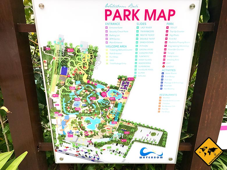 Waterbom in Bali Parkmap