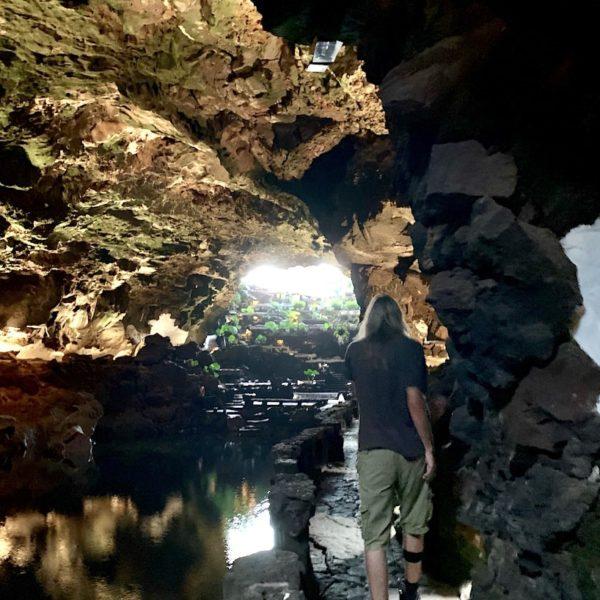 Weg Jameos del Agua Lavahöhle