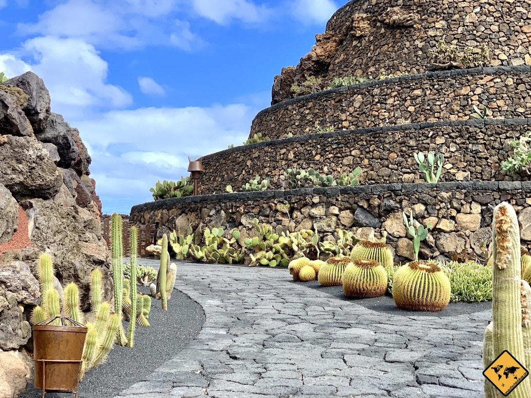 Weg Jardín de Cactus Lanzarote ebenerdig