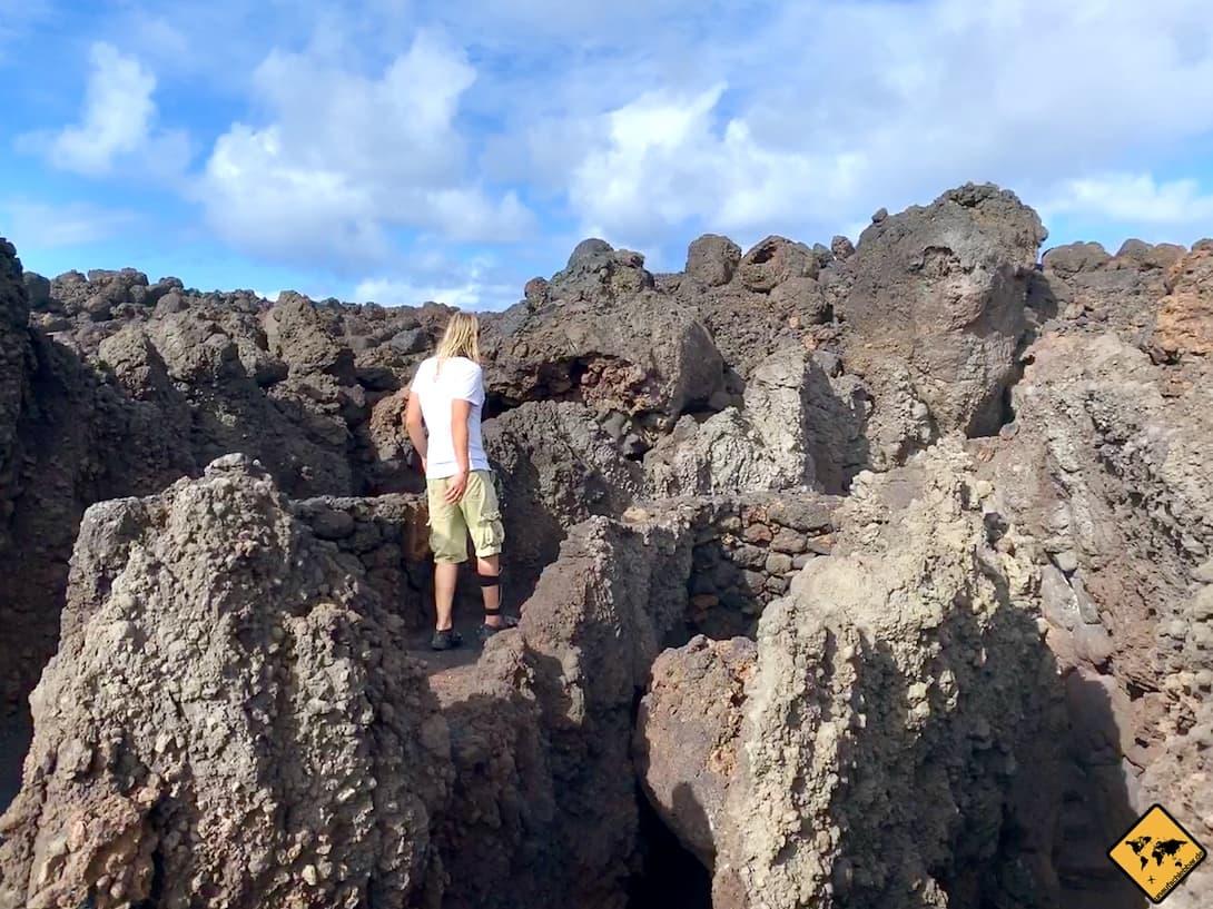 Weg Lava-Landschaft Los Hervideros Lanzarote
