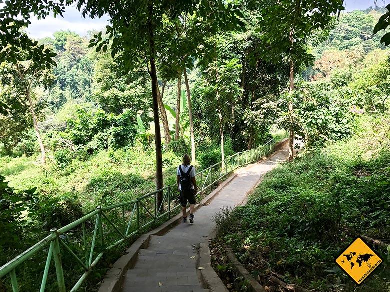 Weg Lombok Wasserfall Sendang Gile