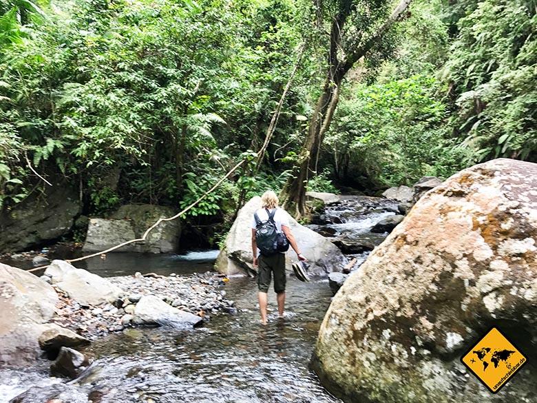 Weg Lombok Wasserfall Tiu Kelep