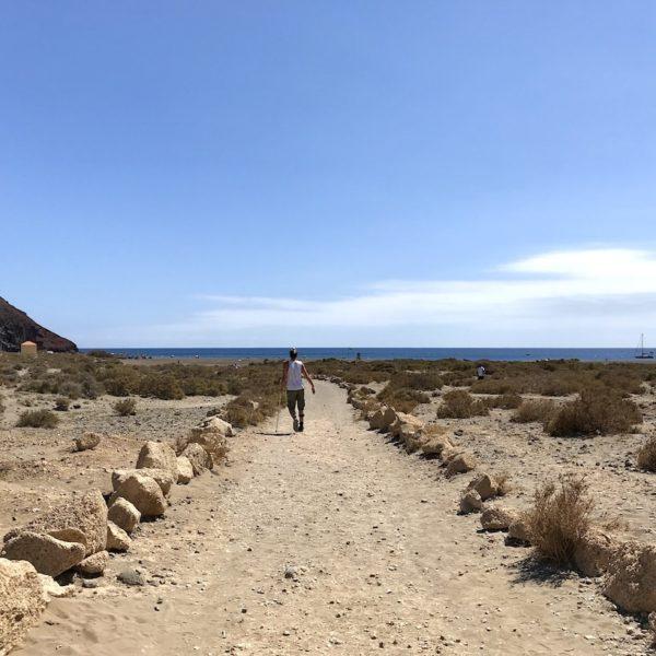 Weg Playa de La Tejita El Médano Teneriffa