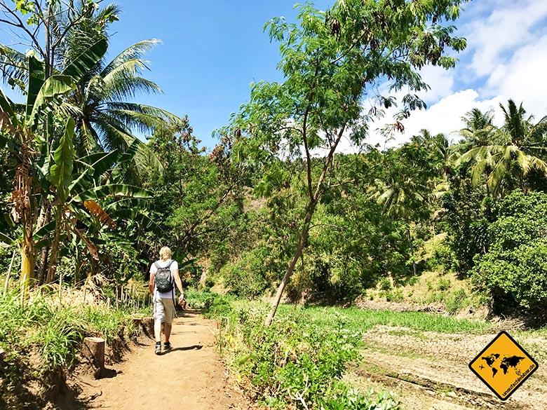 Weg Tiu Pupus Wasserfall Lombok