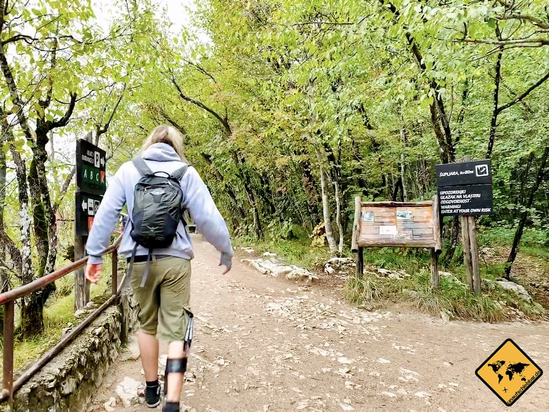 Weg steinig Plitvicer Seen