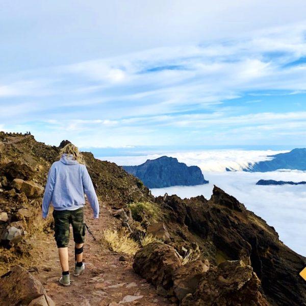 Weg über den Wolken Roque de los Muchachos La Palma