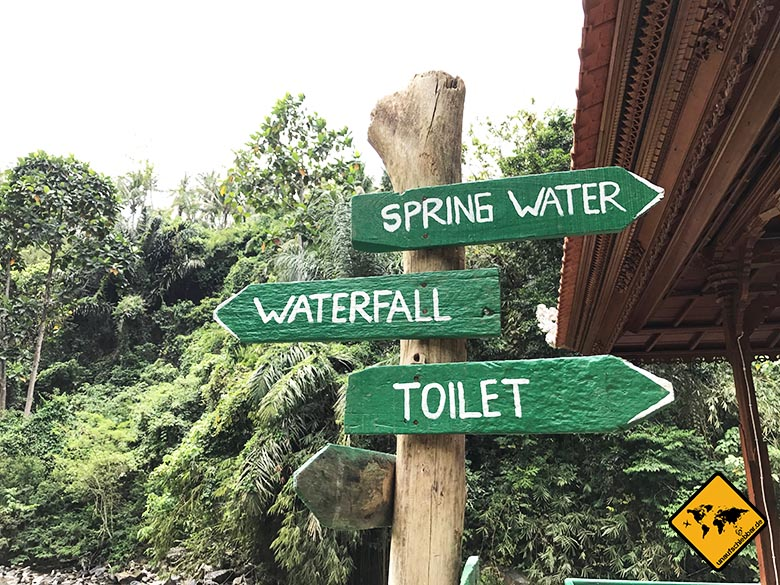 Wegweiser Tegenungan Wasserfall