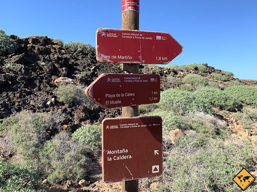 Wegweiser Wanderung Isla de Lobos