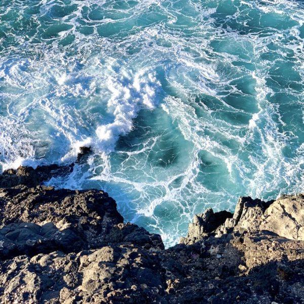 Wellen Felsen Ajuy Fuerteventura