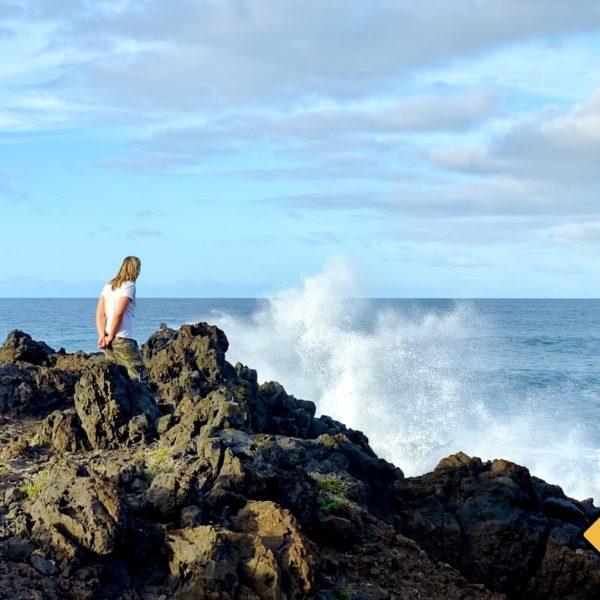 Wellen Lava-Küste Buenavista del Norte