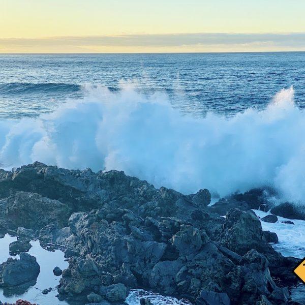 Welleneinschlag Faro de Buenavista del Norte