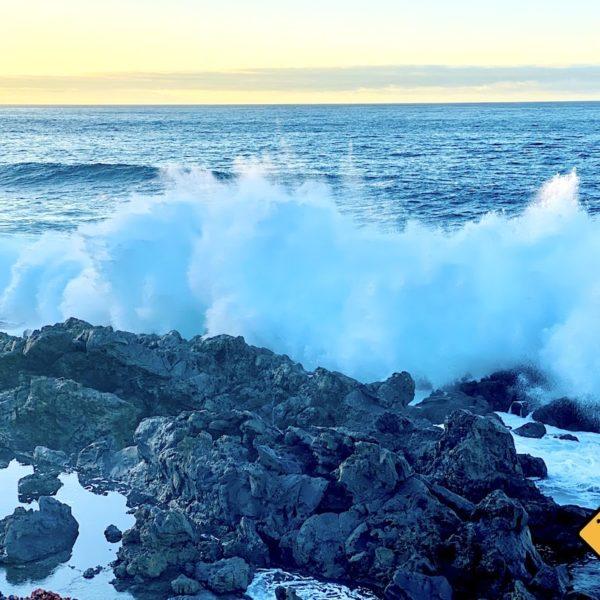 Welleneinschlag Küste Buenavista