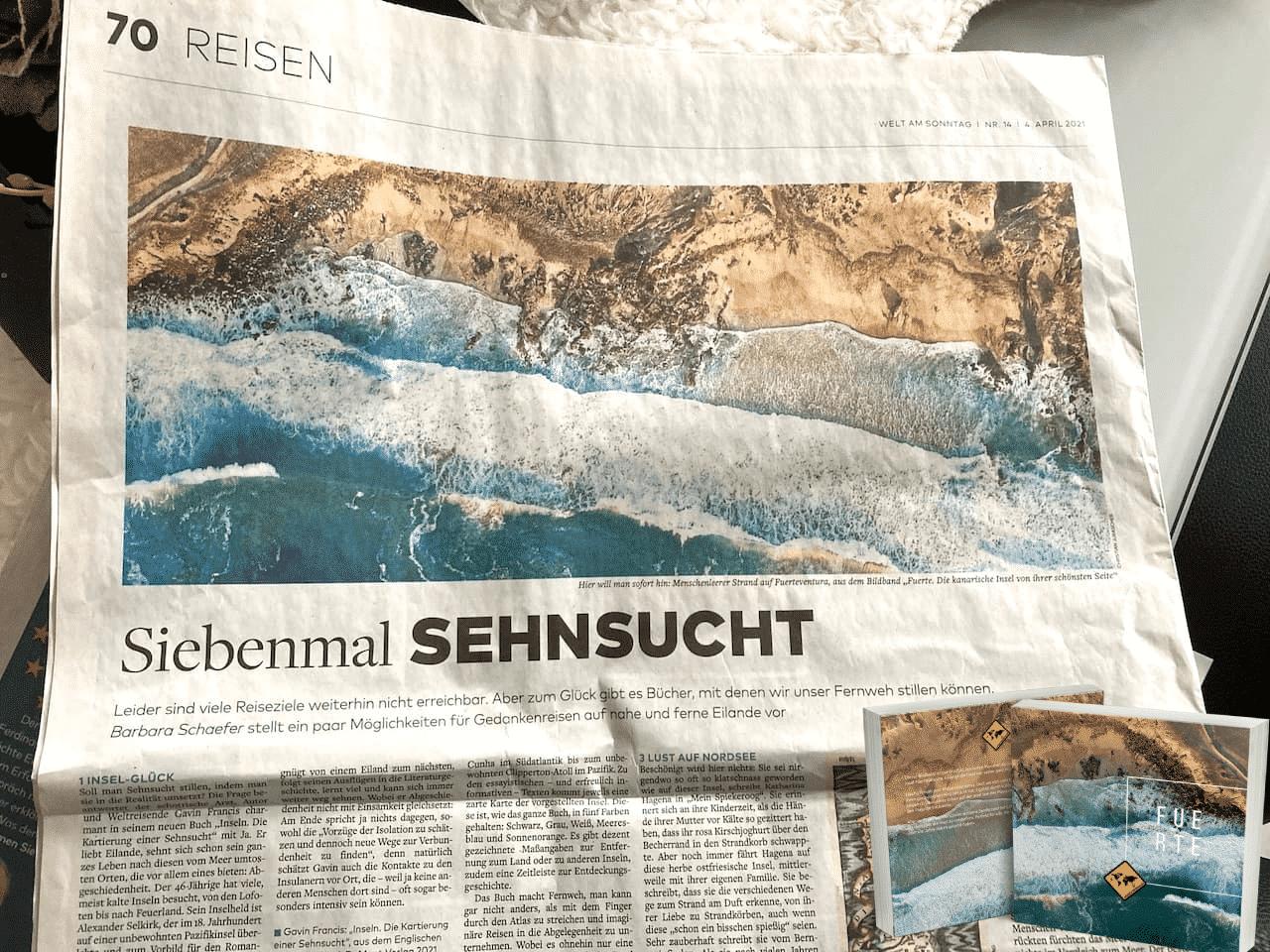 Welt am Sonntag unaufschiebbar Fuerte Fuerteventura Bildband Cover