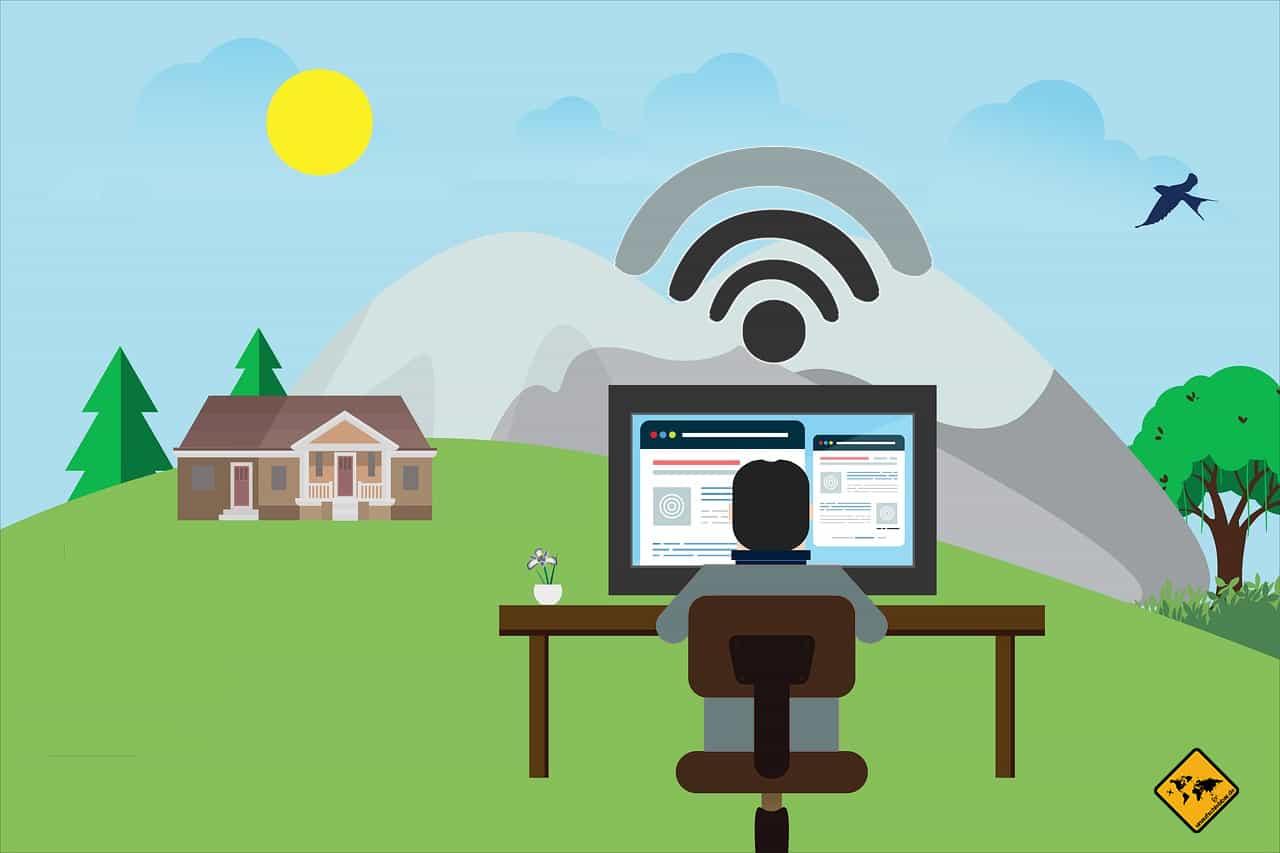 WiFi Konnektivität sollte beachtet werden Remote arbeiten im Ausland