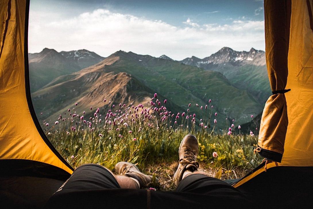 Wildcampen Europa Zelt Berge