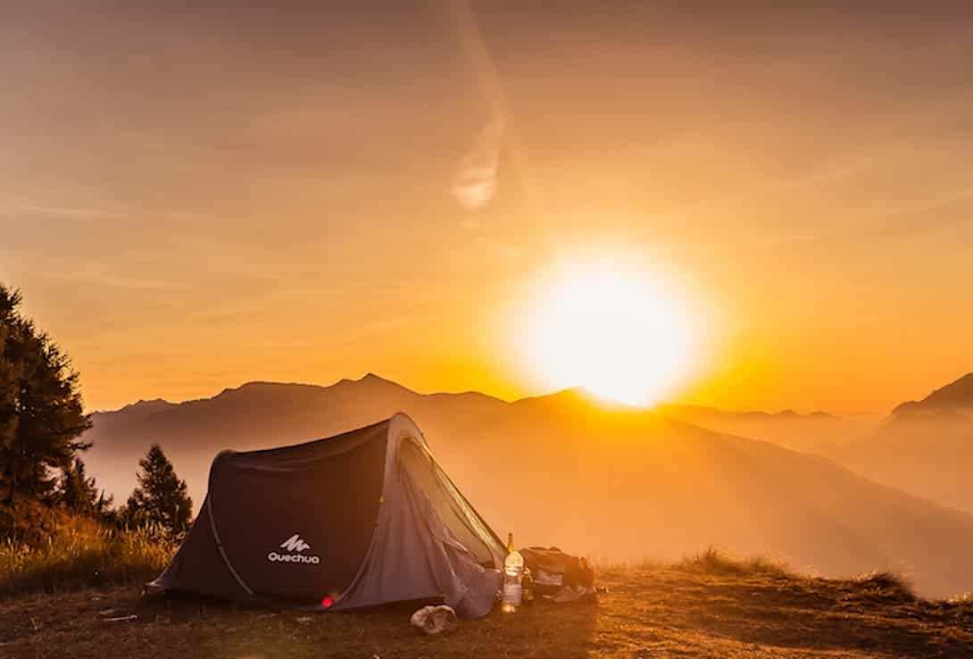 Wildcampen Italien Zelt
