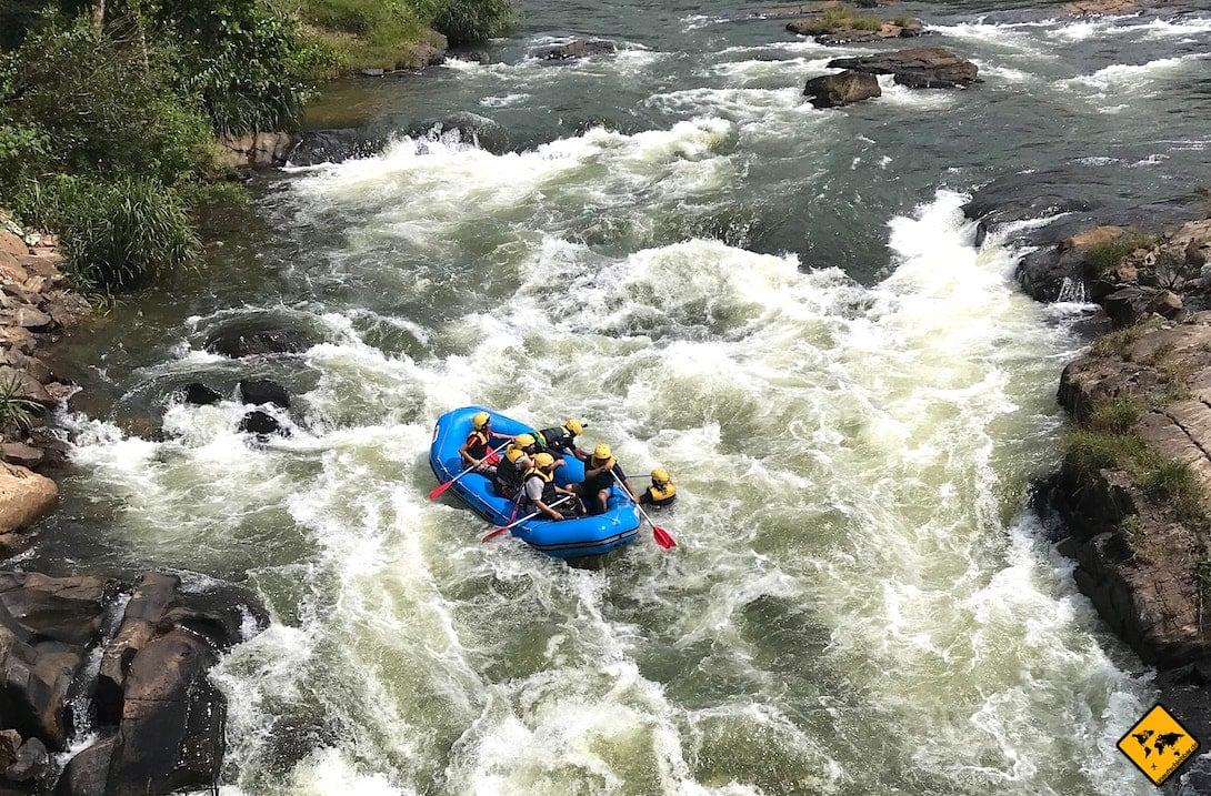 Wildwasser Rafting Sri Lanka Kelani Ganga River Kitulgala