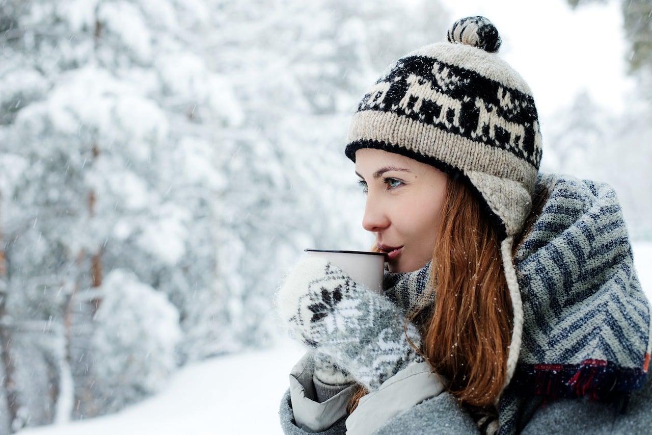 Winter Portraitfoto Schnee