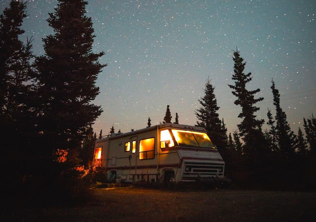 Wohnmobil Sternenhimmel freistehen