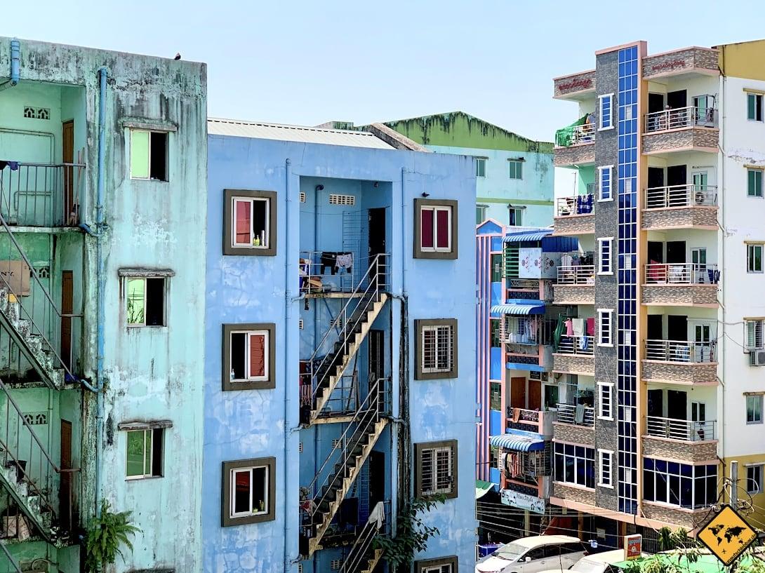 Yangon Häuser Myanmar