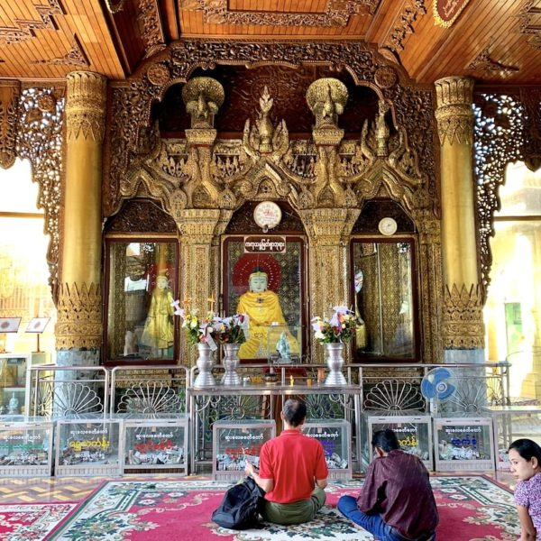 Yangon Sule Pagode Gebetsfläche