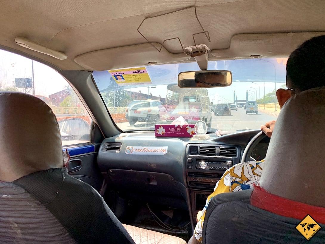 Yangon Taxi fahren