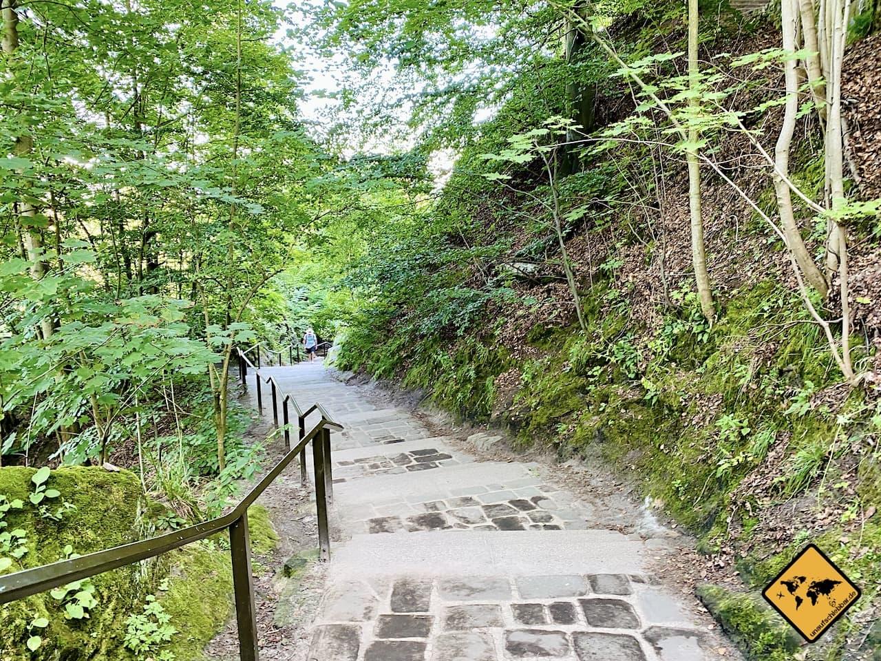 Zugang Basteibrücke Treppen