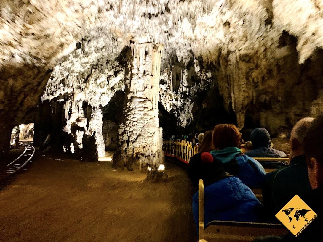 Zugfahrt Tropfsteinhöhle Postojna