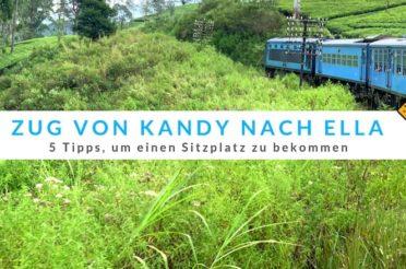 Zug von Kandy nach Ella – 5 Tipps, um einen Sitzplatz zu bekommen