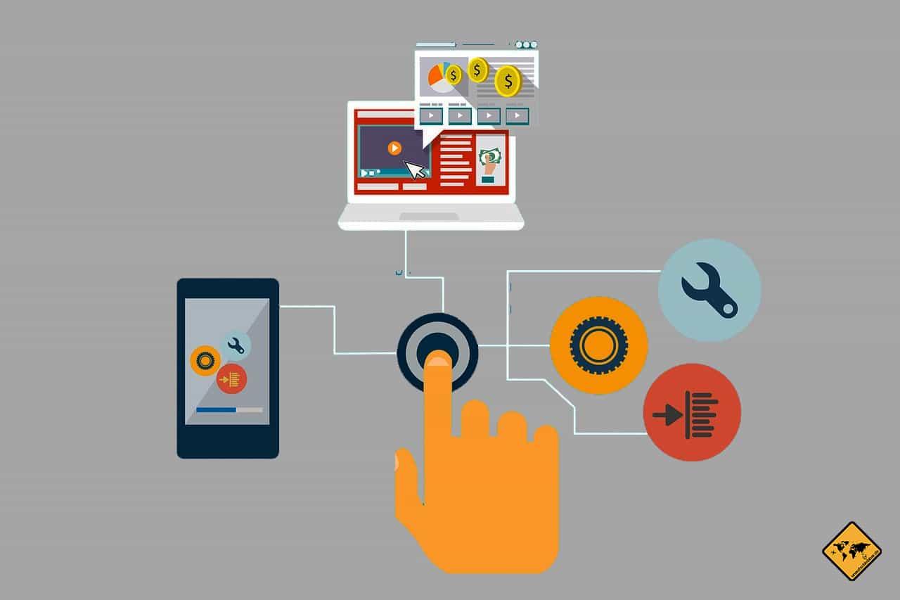 automatisiertes Online Business digitale Nomaden