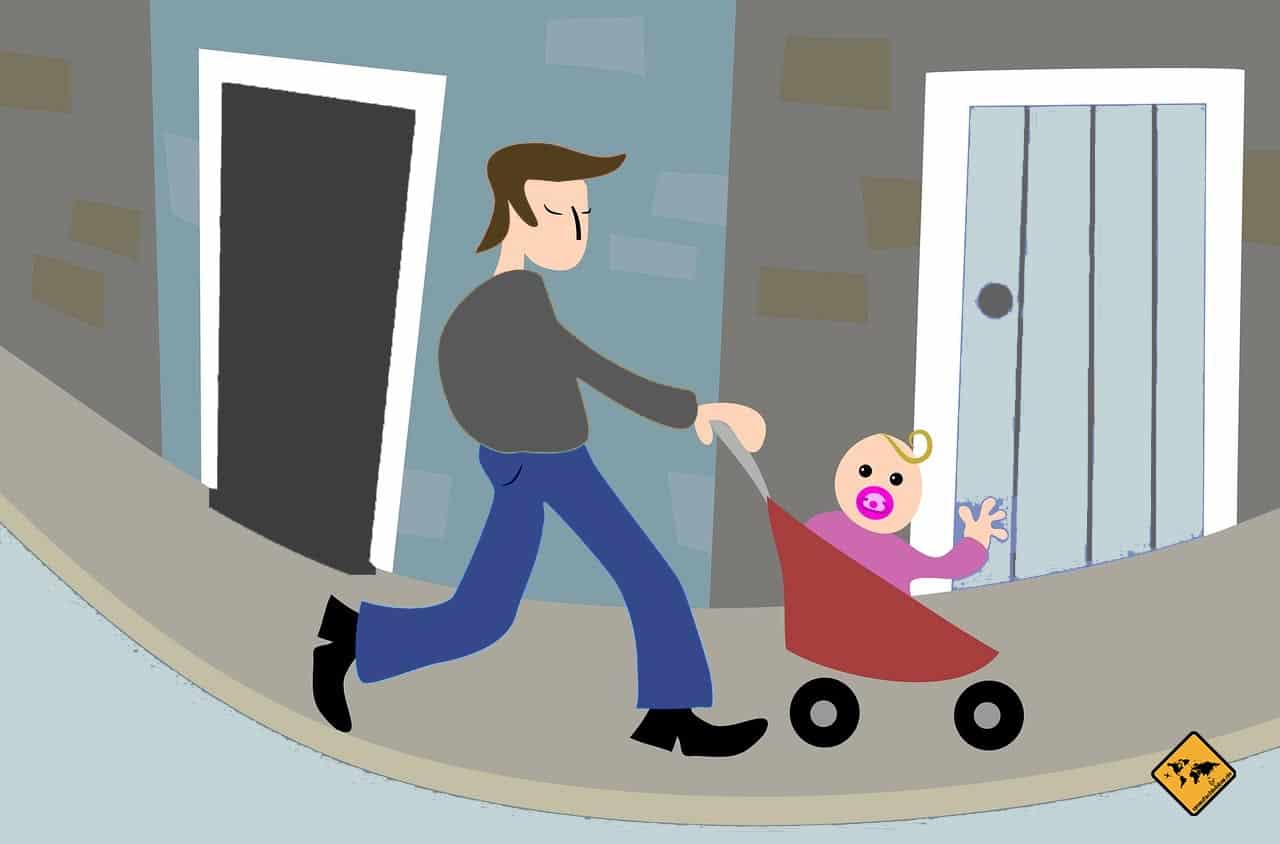 digitale Nomaden Familie Produkte Kinderwagen
