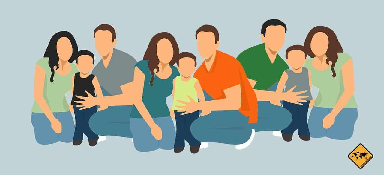 digitale Nomaden Familie Community