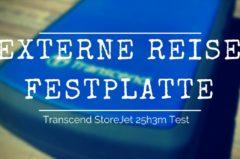 Externe Reise Festplatte (Transcend StoreJet 25h3) im Test