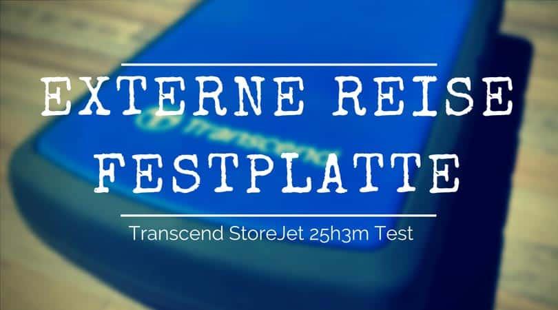 externe Reise Festplatte Transcend StoreJet 25h3