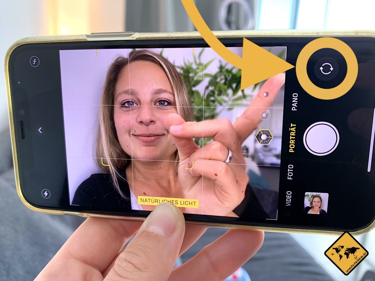 iPhone Frontkamera auswählen
