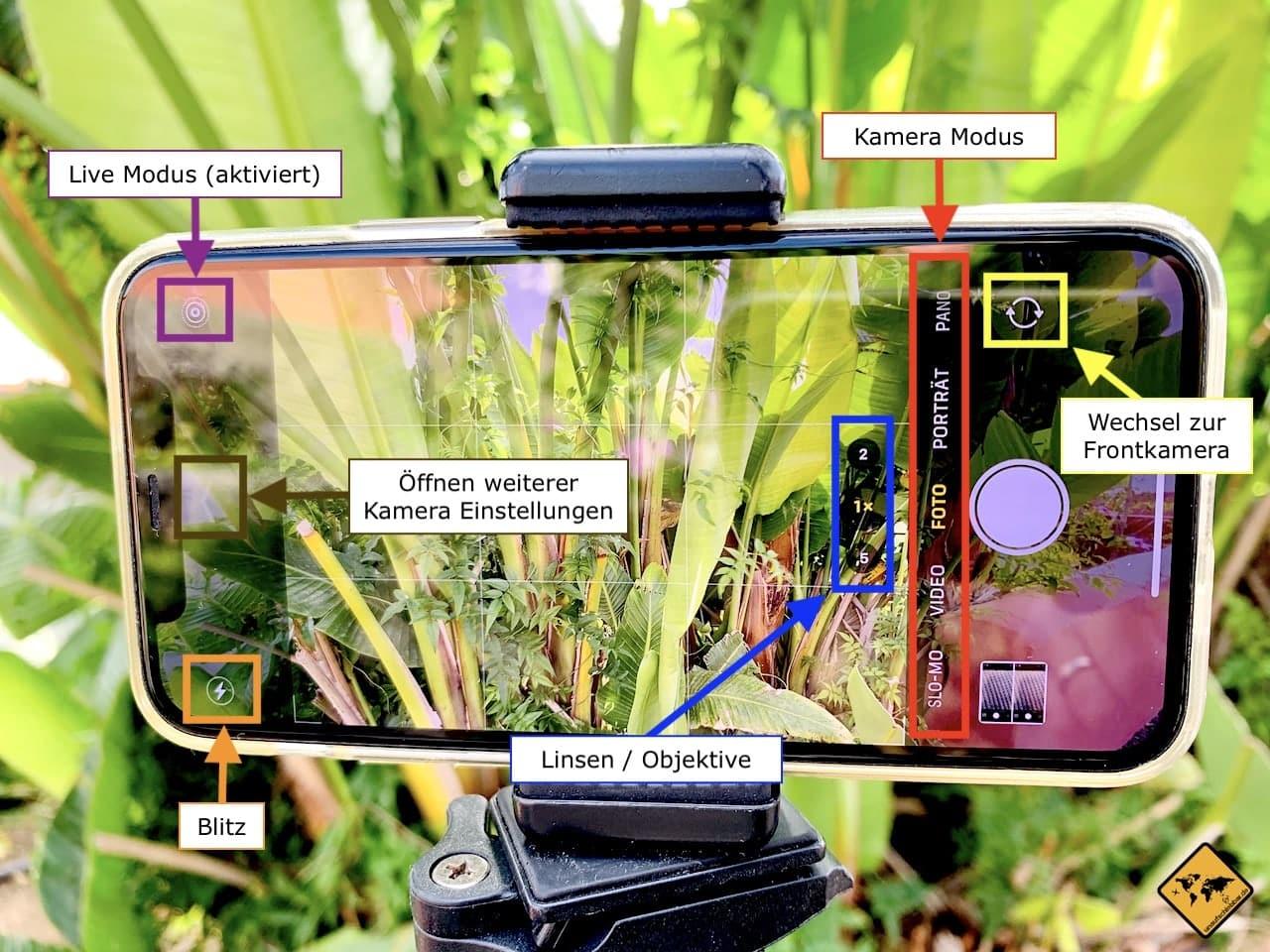 iPhone Kamera Einstellungen beim Fotografieren
