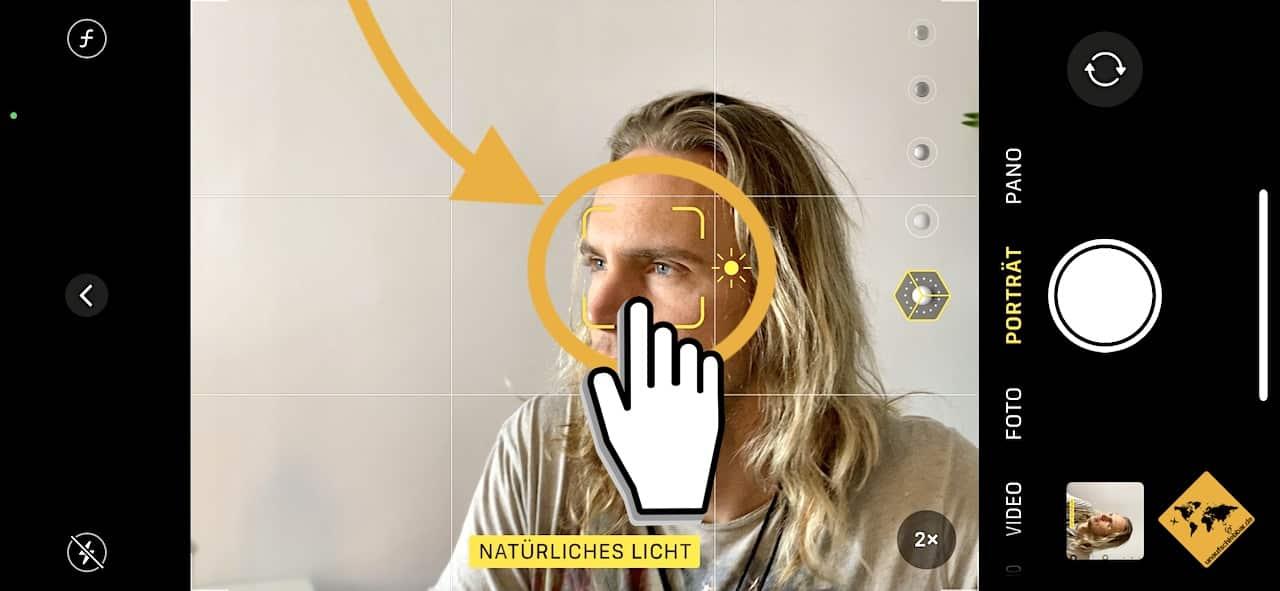 iPhone Kamera Fokus Portraitfunktion