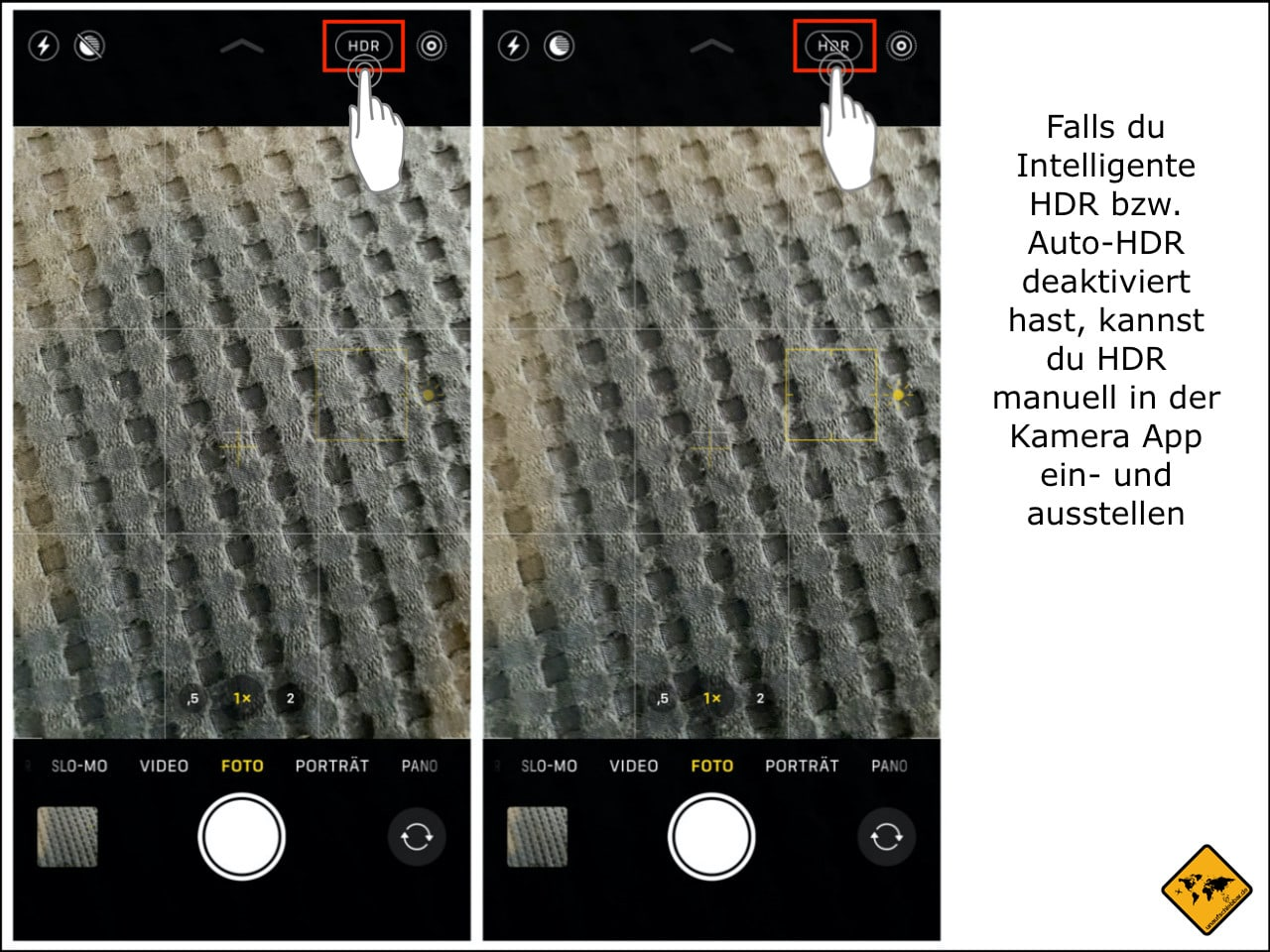 iPhone Kamera HDR manuell einstellen