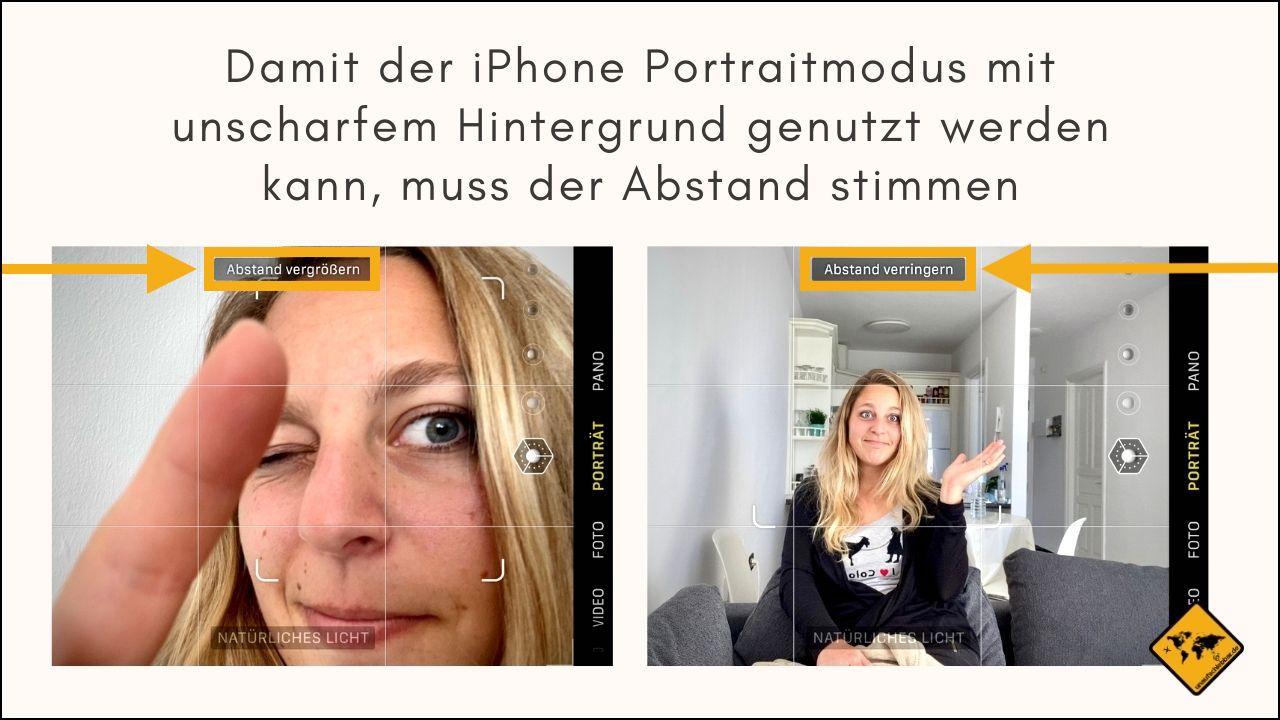 iPhone Portraitmodus Abstand