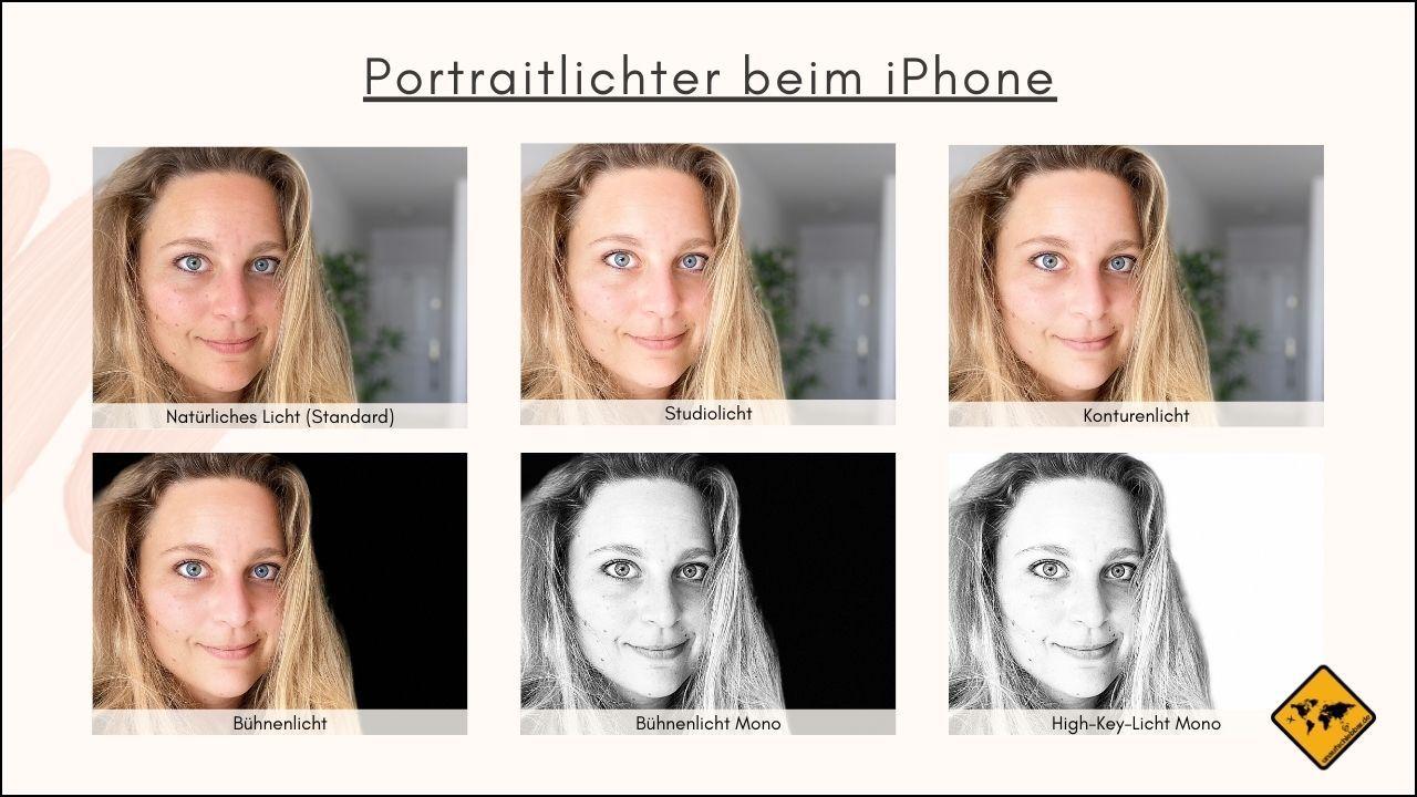 iPhone Portraitmodus sechs Belichtungsoptionen