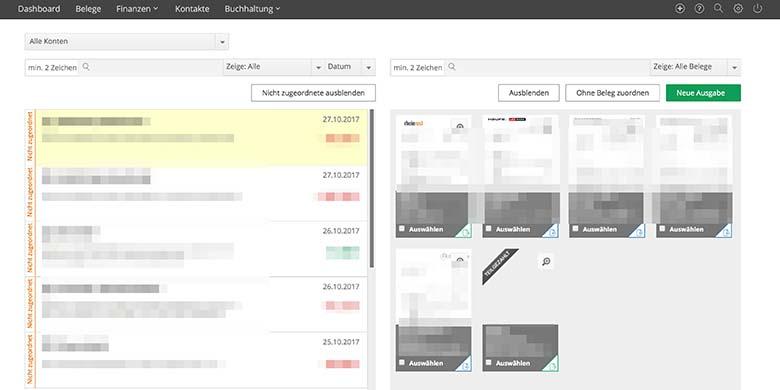lexoffice Online Banking Bankvorgänge